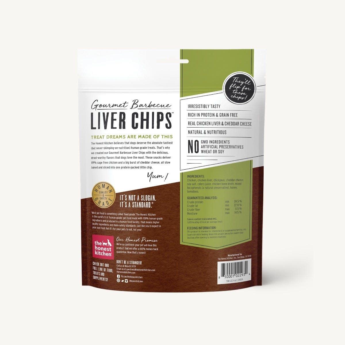The Honest Kitchen Honest Kitchen Chicken Liver & Cheddar Chips 4 oz