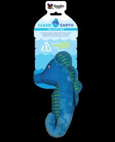 Spunky Pup Clean Earth Sea Horse Plush