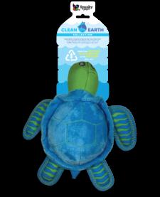 Spunky Pup Clean Earth Turtle Plush