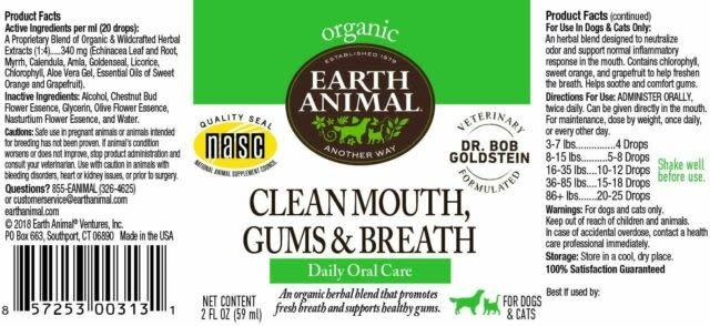 Earth Animal Earth Animal Clean Mouth, Gums & Breath