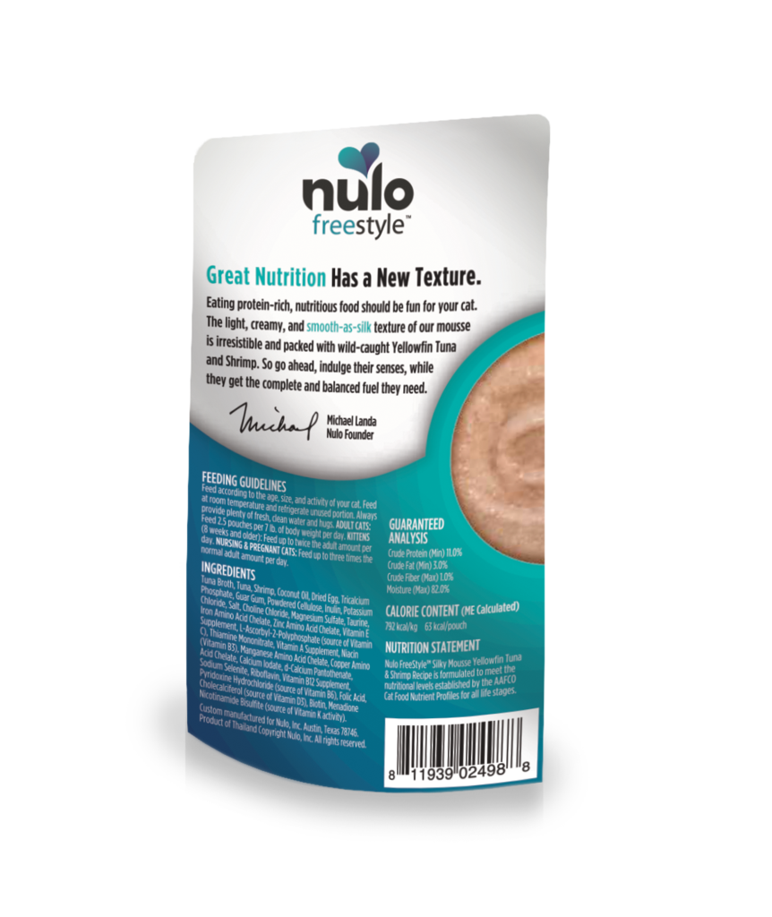 Nulo Nulo Freestyle Silky Mousse Yellowfin Tuna & Shrimp 2.8 oz