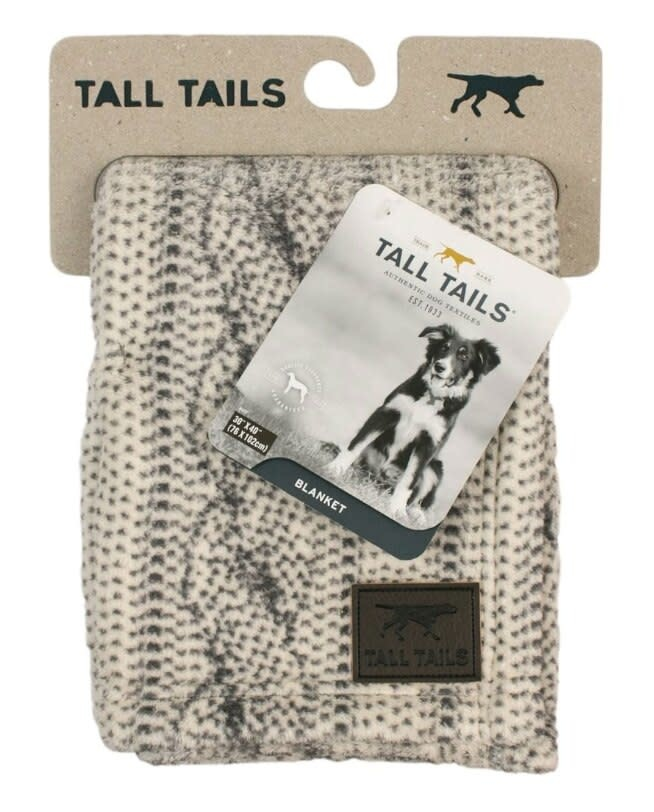 Tall Tails Tall Tails 30x40 Cable Knit Blanket