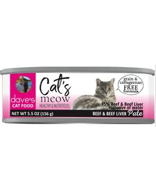 Dave's Cat's Meow Beef & Beef Liver Pate 5.5 oz