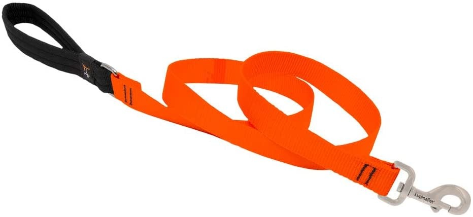 "Lupine Lupine Basics Orange 3/4"" Leash 6'"