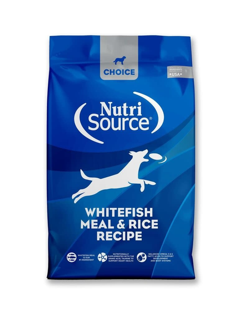Nutrisource (KLN) NutriSource Choice Whitefish & Rice 30 lb