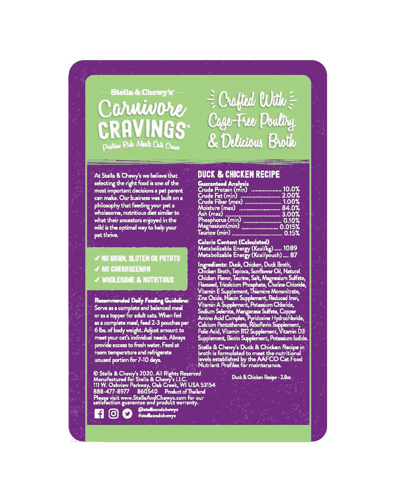 Stella & Chewy's Stella & Chewy's Carnivore Cravings Duck & Chicken 2.8 oz