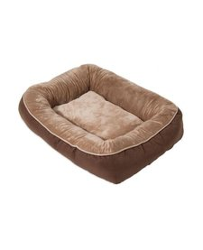 Snoozzy Rustic Bumper Bed Brown Large