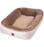 Petmate Snoozzy Rustic Bumper Bed Buff Large