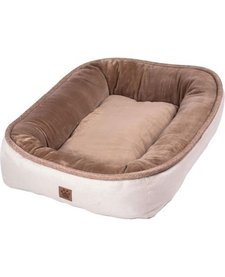 Snoozzy Rustic Bumper Bed Buff Large