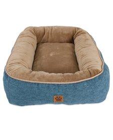 Snoozzy Rustic Bumper Bed Blue Medium