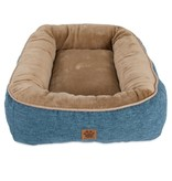 Petmate Snoozzy Rustic Bumper Bed Blue Large