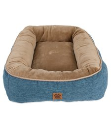 Snoozzy Rustic Bumper Bed Blue Large