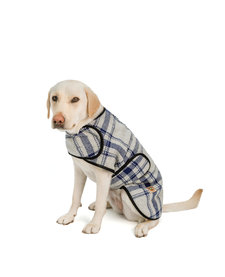 Chilly Dog Gray & Blue Plaid Coat Medium