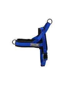 Lucky + Dog Quick Fit Harness Blue MD