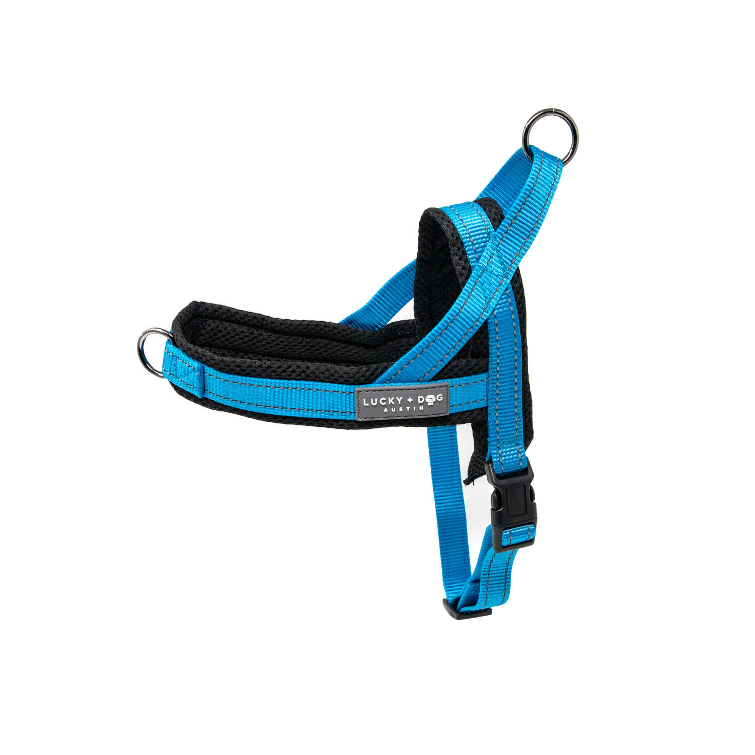 Lucky + Dog Lucky + Dog Quick Fit Harness Light Blue LG