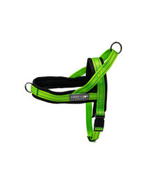 Lucky + Dog Quick Fit Harness Bright Green MD