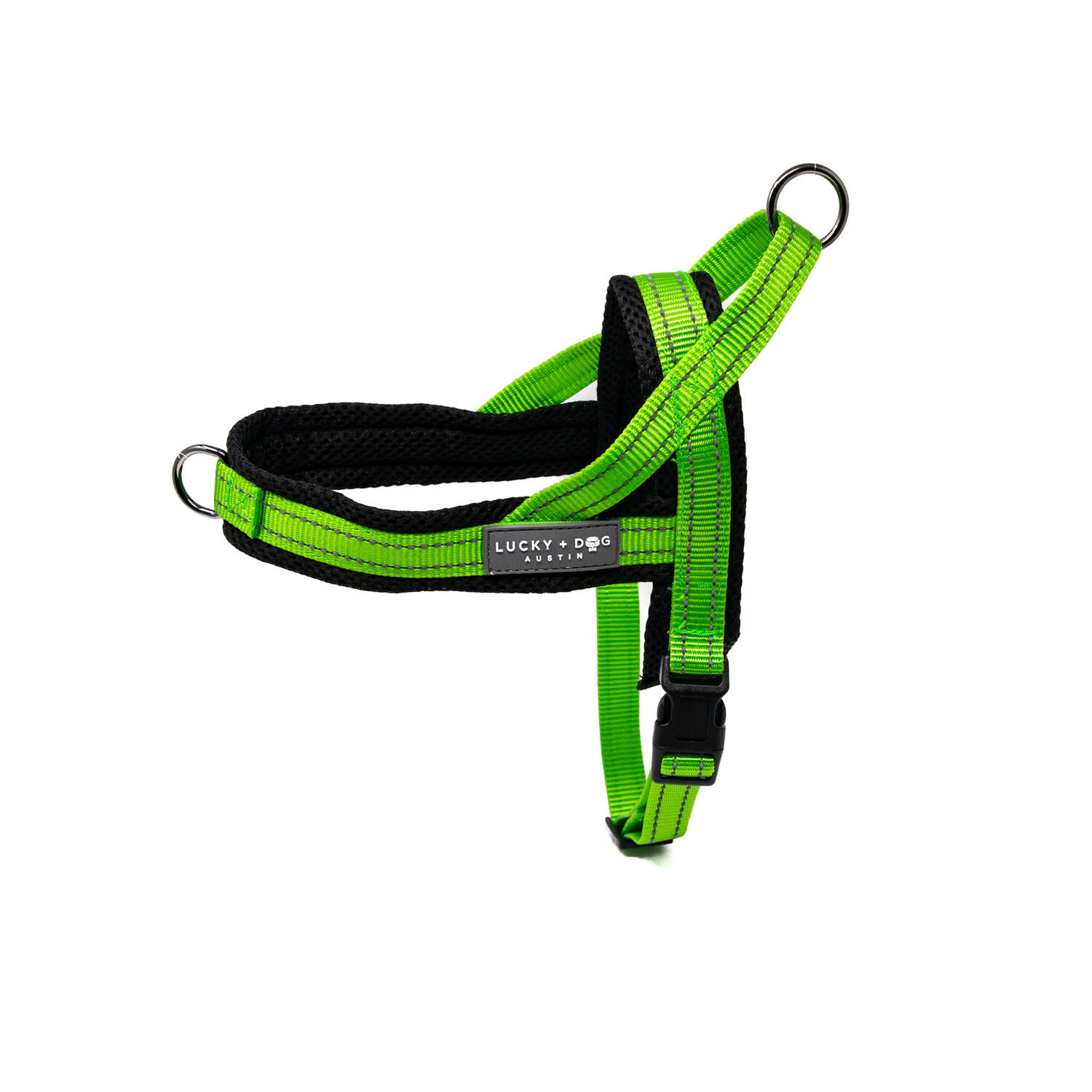 Lucky + Dog Lucky + Dog Quick Fit Harness Bright Green MD