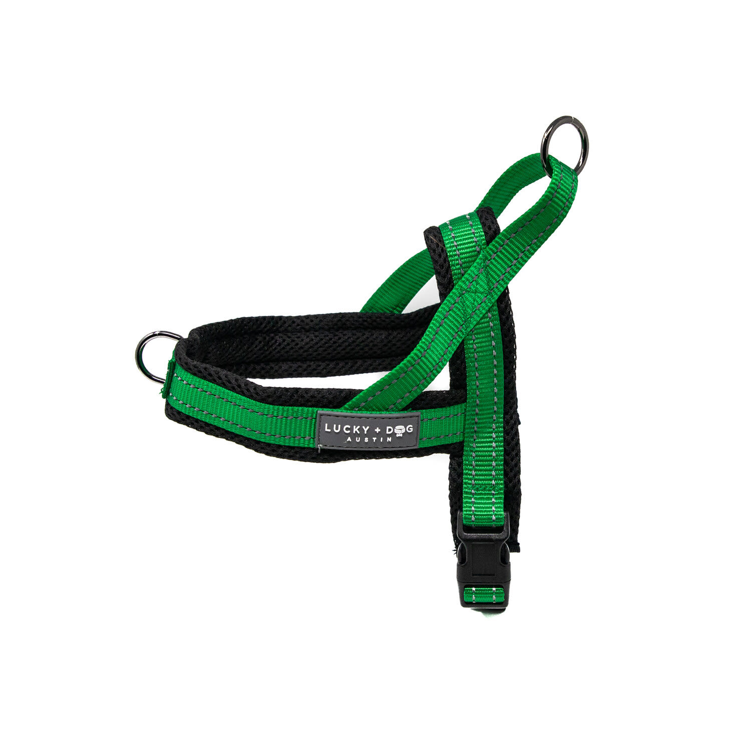 Lucky + Dog Lucky + Dog Quick Fit Harness Green LG