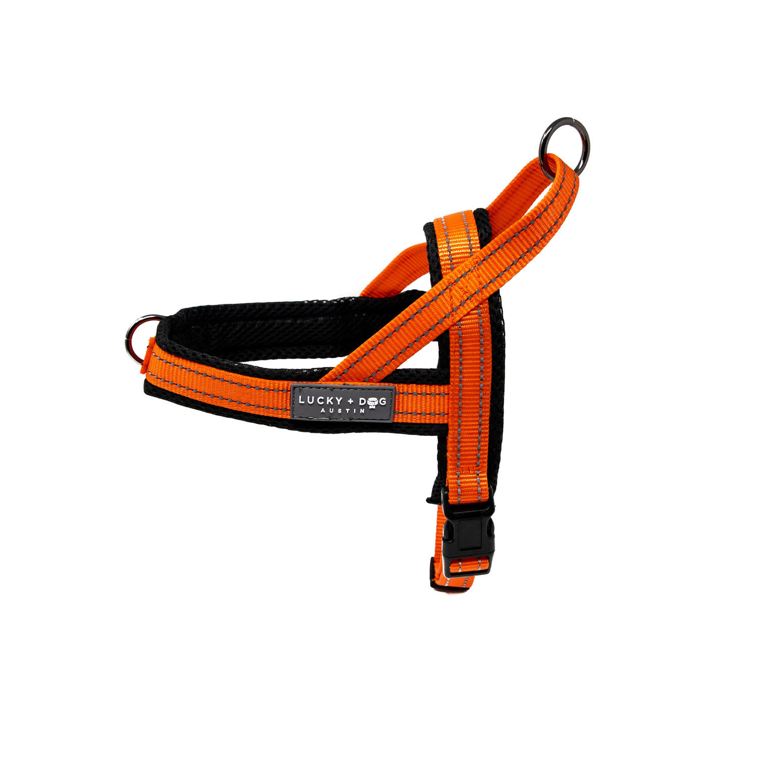 Lucky + Dog Lucky + Dog Quick Fit Harness Orange XS