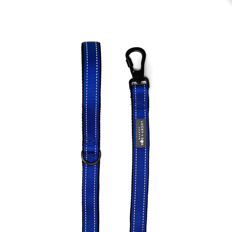 Lucky + Dog Lucky + Dog Standard Leash Blue 6 ft