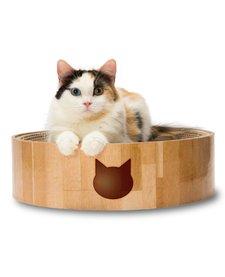Necoichi Cozy Cat Scratcher Bowl - Oak