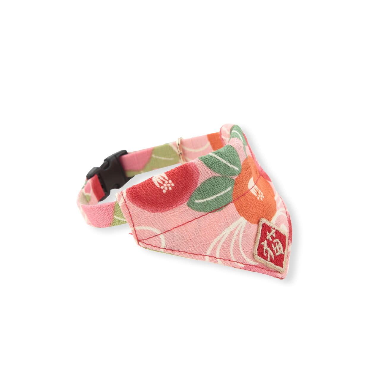 Necoichi Kimono Cat Bandana Collar Pink