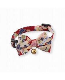 Kimono Bow Tie Cat Collar Red