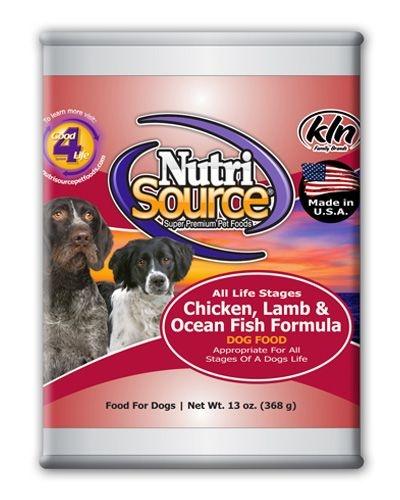 Nutrisource (KLN) NutriSource ALS Chicken Lamb Ocean Fish 13oz