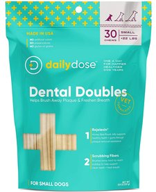 Daily Dose Dental Doubles Dental Chew Small 30ct