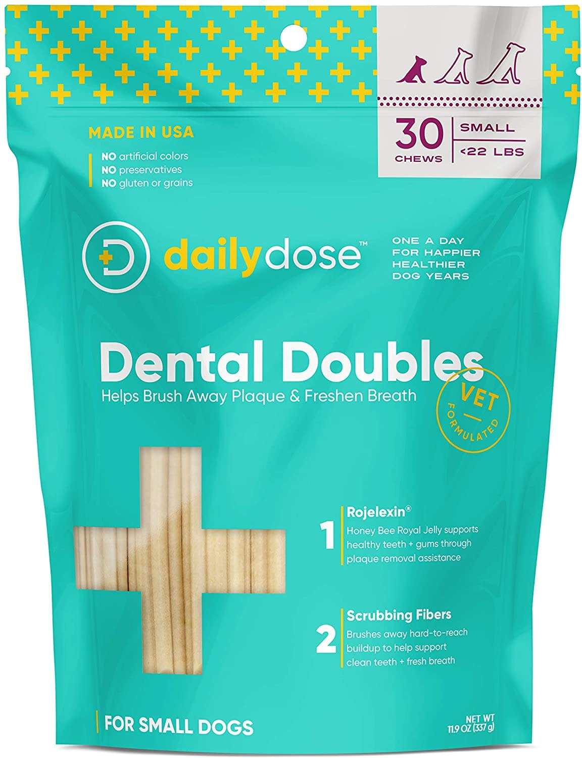 Daily Dose Daily Dose Dental Doubles Dental Chew Small 30ct