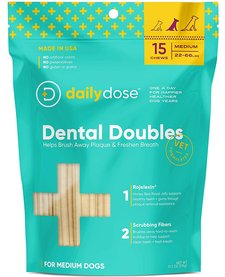 Daily Dose Dental Doubles Dental Chew Medium 15ct