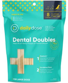 Daily Dose Dental Doubles Dental Chew Large 8 ct