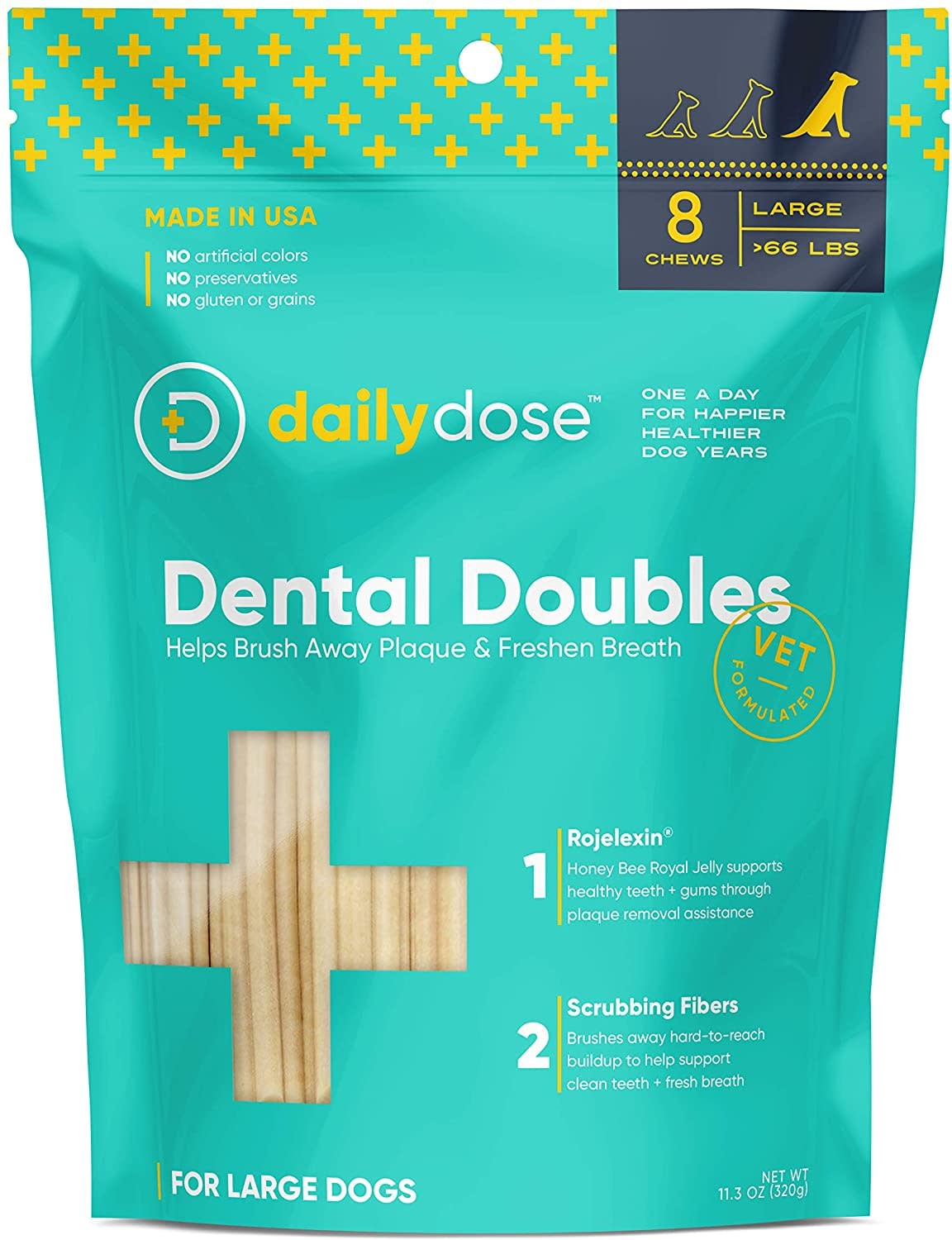 Daily Dose Daily Dose Dental Doubles Dental Chew Large 8 ct