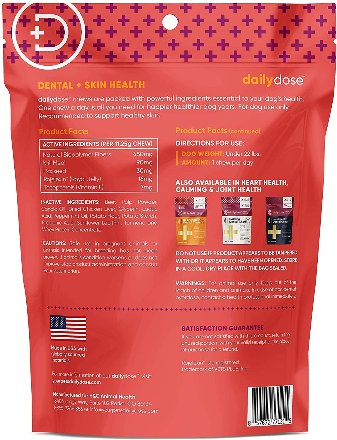 Daily Dose Daily Dose Skin Health Dental Chew Small 30ct