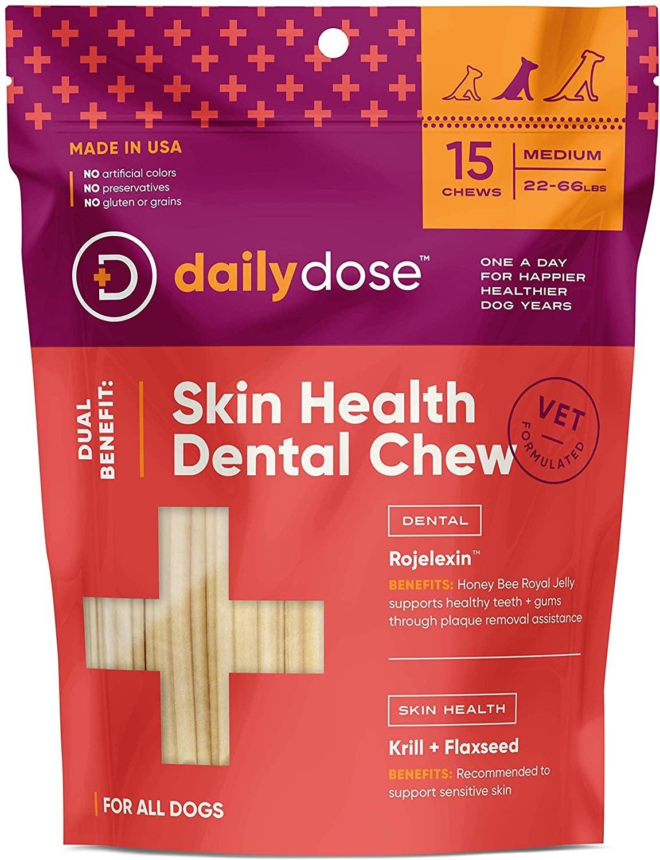 Daily Dose Daily Dose Skin Health Dental Chew Medium 15ct