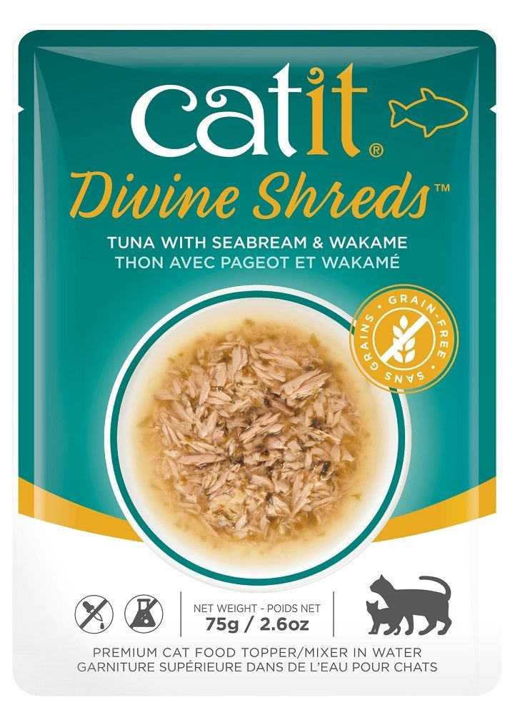 Catit Catit Divine Shreds Tuna &  Seabream 2.6oz