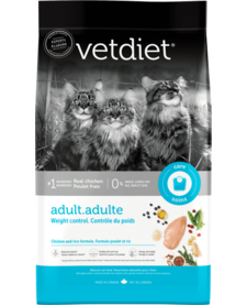 Vetdiet Cat Adult Weight Control Chicken & Rice 3.5 lb