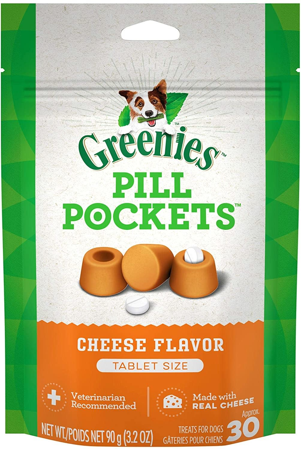 Greenies Greenies Pill Pocket Cheddar 3.2oz