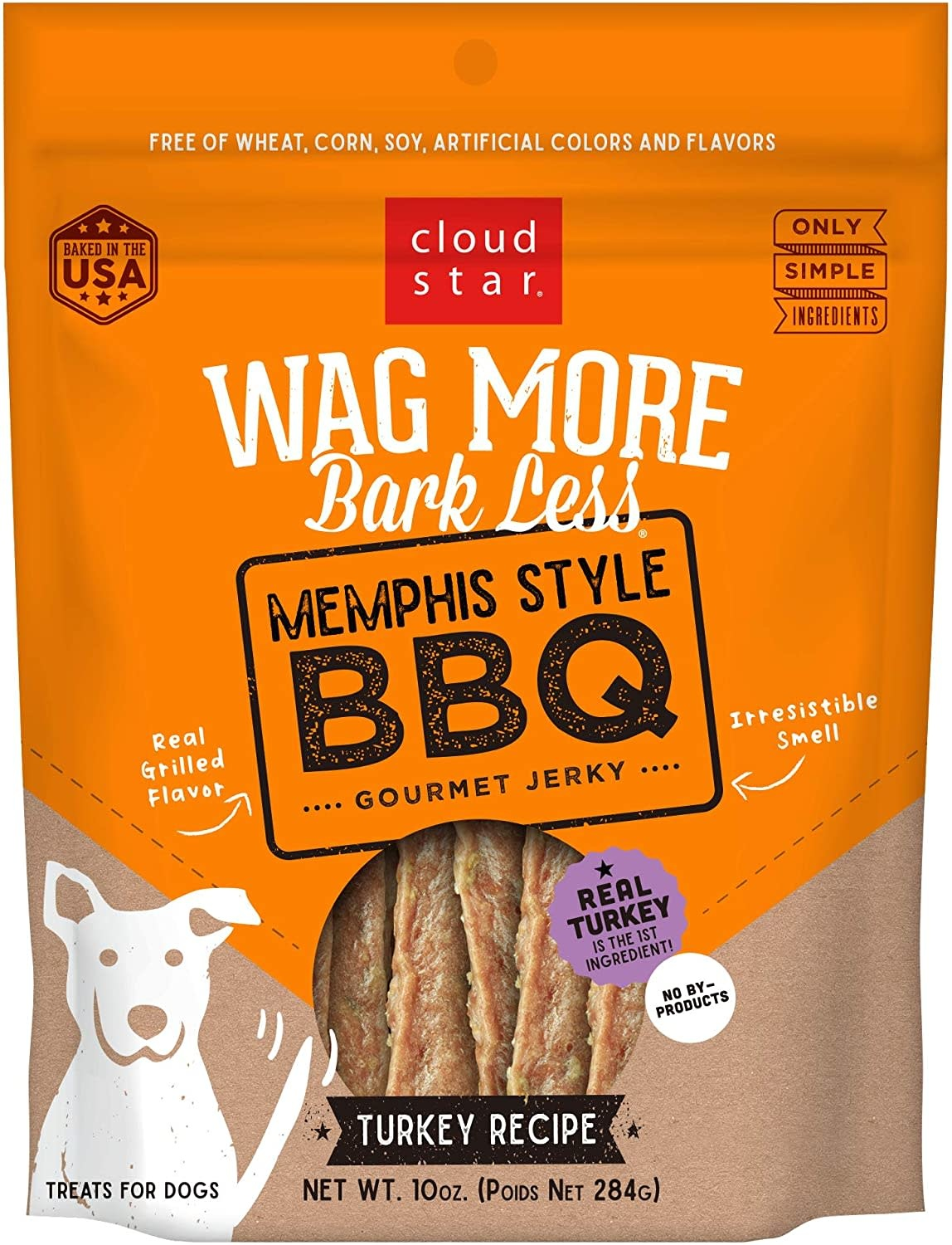 Cloud Star Wag More Memphis Style BBQ Jerky 10 oz