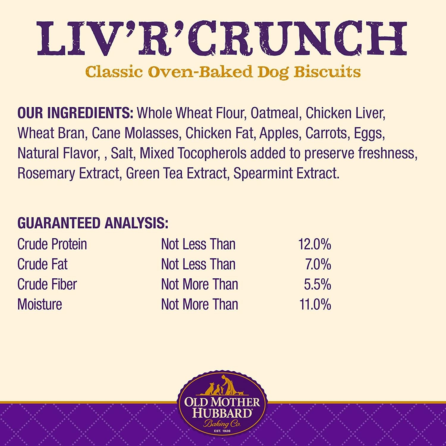 WellPet Old Mother Hubbard Liv'r'Crunch Mini Biscuits 20oz