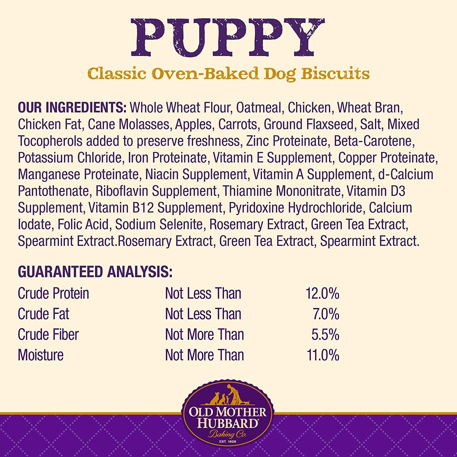 WellPet Old Mother Hubbard Puppy Mini Biscuits 20oz