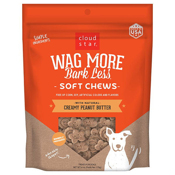 Cloud Star Wag More Peanut Butter Soft Chew 6oz