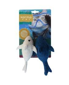 Karma Cat - Felt Dolphin 2-pack