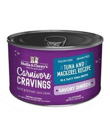 Stella & Chewy's Carnivore Cravings Tuna & Mackerel Shreds 5.2 oz