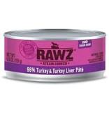 Rawz Natural Pet Food Rawz Pate 96% Turkey & Turkey Liver 3 oz
