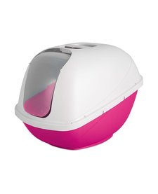 Petmate Hooded Litter Box Hot Pink