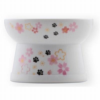Nechoichi Necoichi Raised Cat Food Bowl - Sakura
