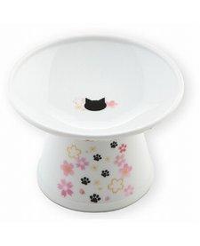 Necoichi Extra Wide Raised Cat Food Bowl - Sakura