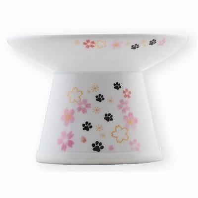 Nechoichi Necoichi Extra Wide Raised Cat Food Bowl - Sakura