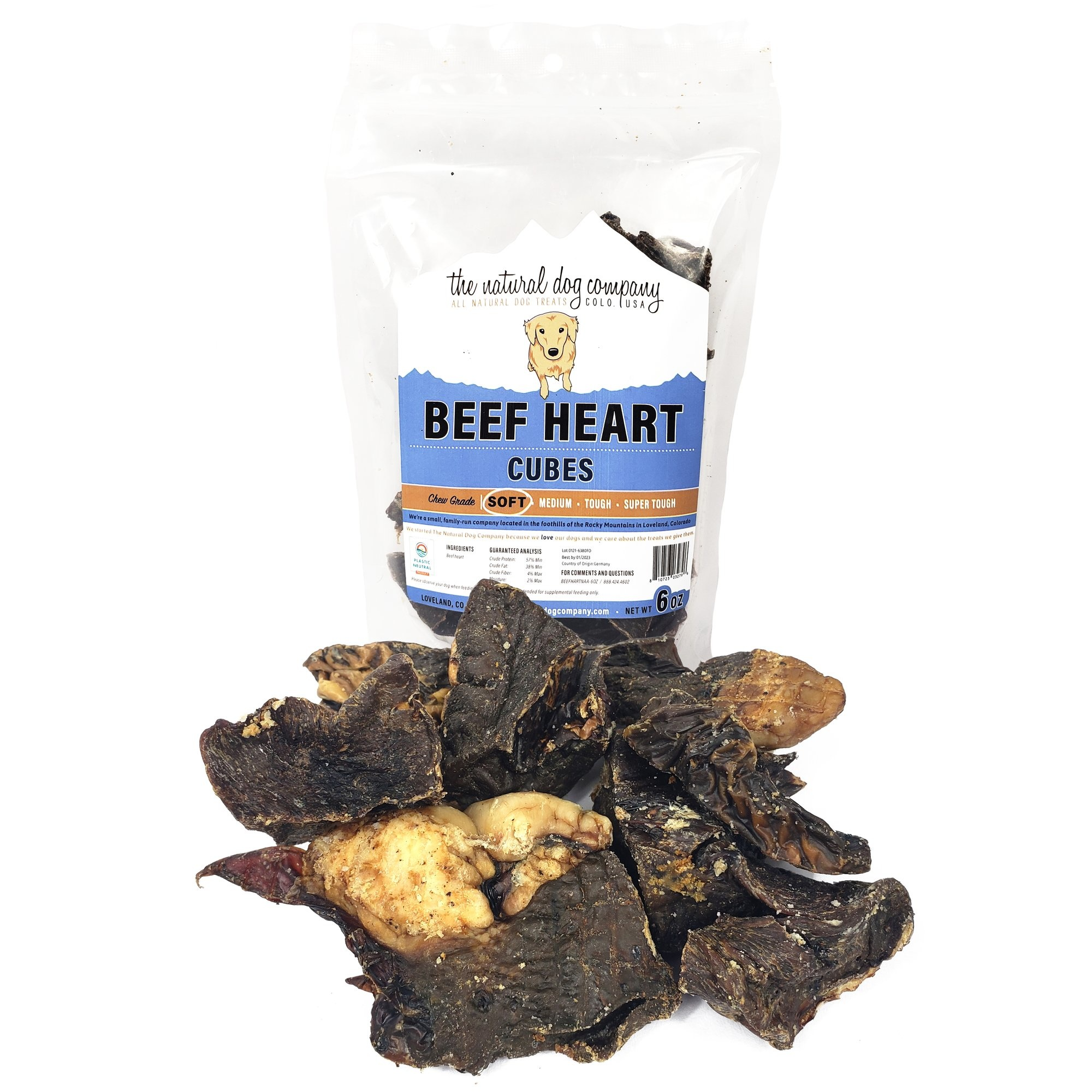 The Natural Dog Co. NDC Beef Heart Cube 6oz